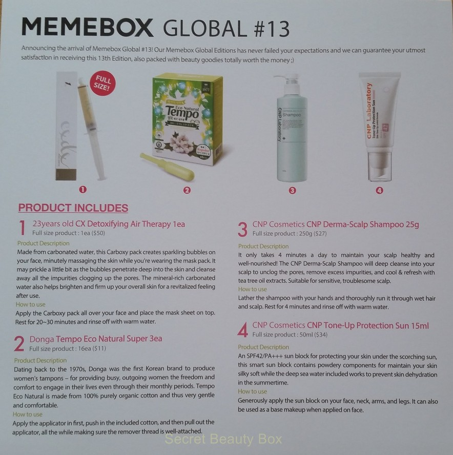 memebox global #13